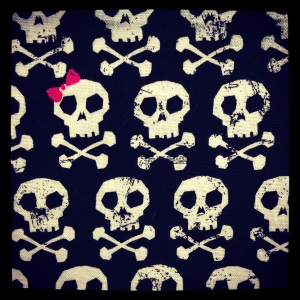 cute fabric i found.  wish i could think of a use for it.