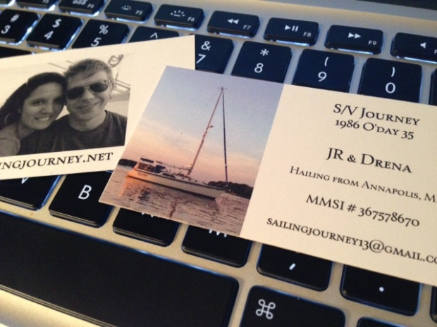 our new boat cards! yay!