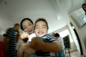 our friend, christina and her cutie, mateo
