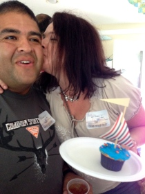patrice, smoochin' on her cupcake :)