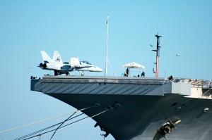 Yup, it's a fighter jet.  Crazy.