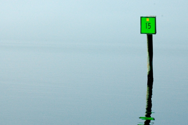 Fog on the Bogue Sound, NC.