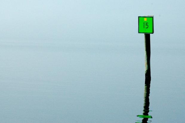 Fog on the Bogue Sound, NC.