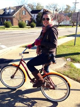Me, on a bike!