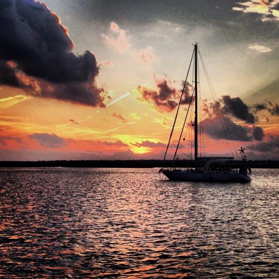 Serenade at anchor.