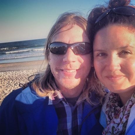 Us at Wrightsville Beach, NC.