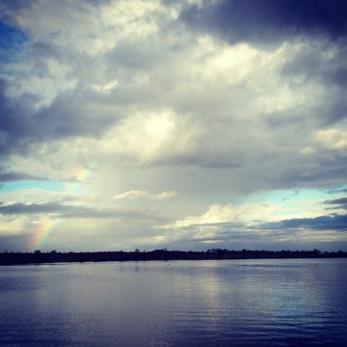 A rainbow at Butler Island, SC.