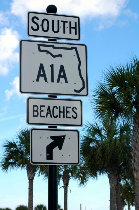 One of the first signs we saw as we stepped foot on land, A1A!  Had Vanilla Ice stuck in our heads all weekend long!