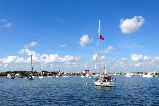 The Municipal Marina in St. Augustine has a ton of mooring buoys.  It is a busy place!