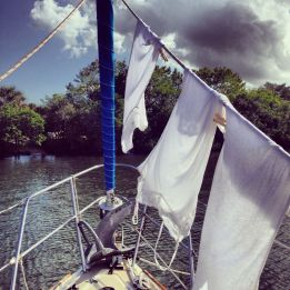 My first attempt at laundry on board.