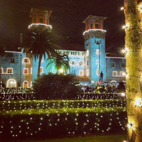St. Augustine gets all dolled up for Christmas.  Here is Lightner Museum lit up!