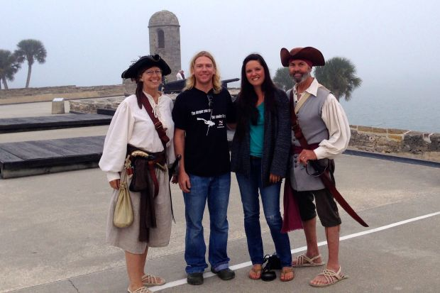 We met up with our friends, Dan and Jaye, who we know from Annapolis.  They gave us a tour of the town in their pirate attire!  How many of you can say you had a pleasurable and personal pirate tour of St. Augustine!?