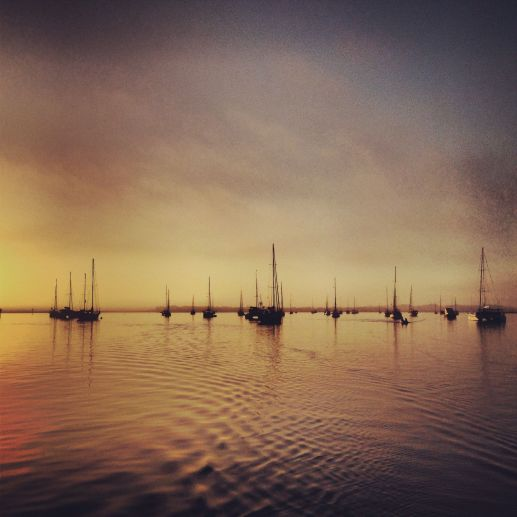 St. Augustine Municipal Marina's mooring field gave us a beautiful farewell as we left at sunrise <3