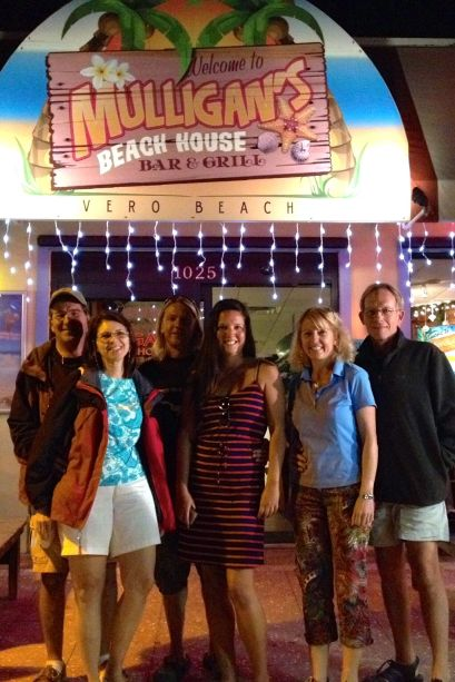 Dinner with 2 sets of crew who are already in the Bahamas!  (Photo straight up stolen from Eleanor Q's blog :)