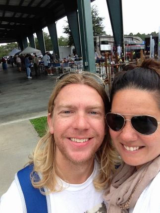 Us at the Nautical Flea Market.