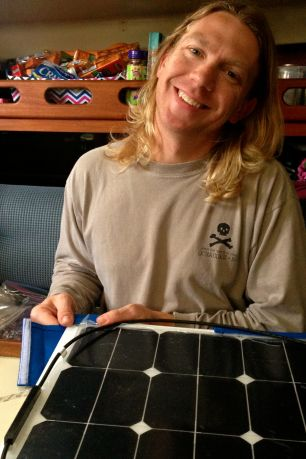 Sewing 101 Mounting Our Semi Flexible Solar Panels