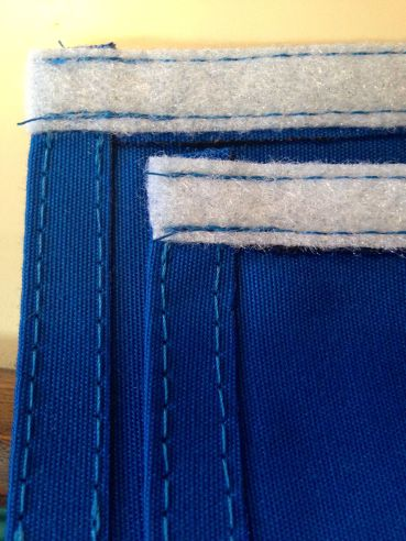 A close up of the lapels all sewed up!