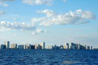 Skyline of Pampano Beach, FL, I think.