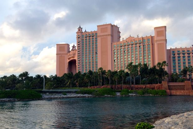 "View of Atlantis from the ""cheap"" dock.  $4/ft per night!  Yikes!"