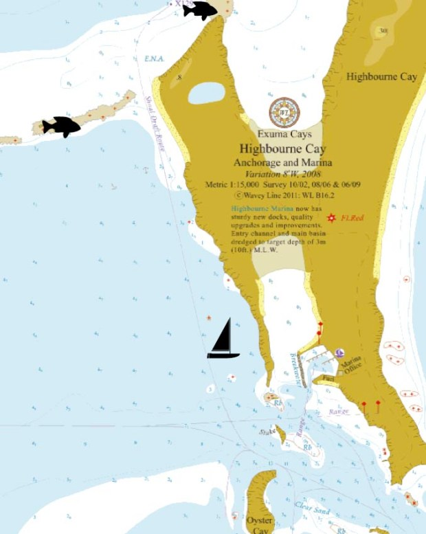 Highborne Cay Map