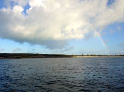 A rainbow near White Cay.