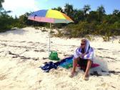 Hiding from the sun :)