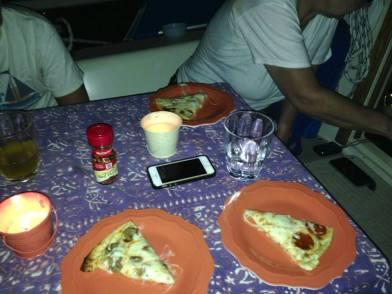 Boat pizza!
