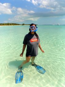 The cutest little snorkeler George Town has EVER seen!