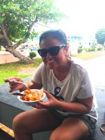 Fla trying conch salad!