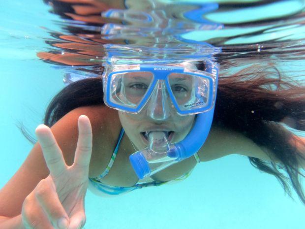 me snorkling