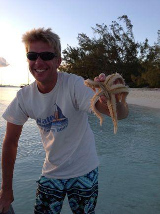Jake playing with his starfish ;)