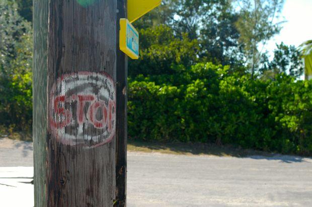 An Exuma stop sign :)