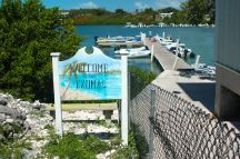 The dinghy dock maintained by the Exuma Market.