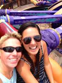 Us on The Magic Carpets of Aladdin ride.