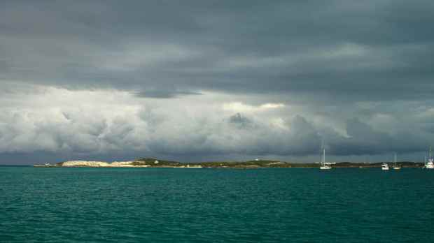 The cold front passing through Staniel Cay.
