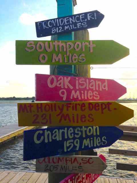 A sign at Fishy Fishy.  You know you're in a beach town when you see a sign like this.  Makes me miss George Town <3