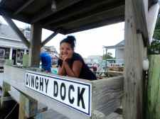 The dinghy dock at Community Square.