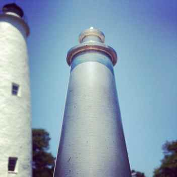 JR's pic of the little lighthouse in front of the big one.