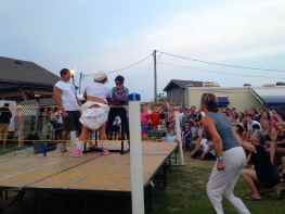 The Ocracoke radio station had a fundraising event while we were there. Woman's Arm Wresting, of course!