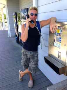 T-Moble sucks, so we had to find a pay phone. If you ever need a phone in Ocracoke, don't bother with the pay phones! Just ask the ferry guys!
