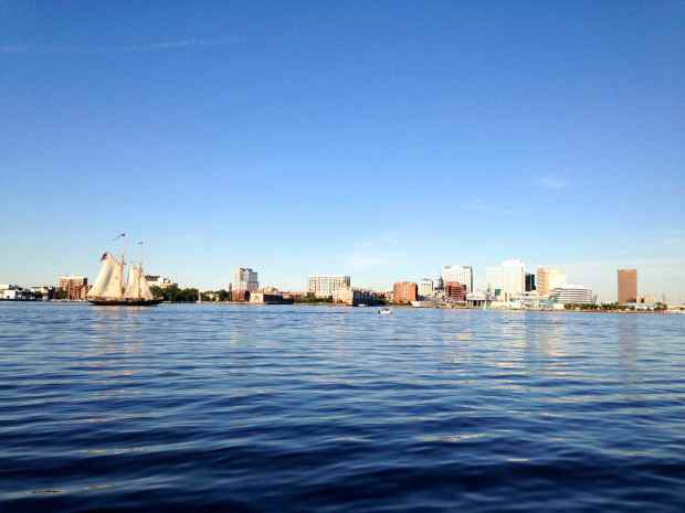 Norfolk skyline.
