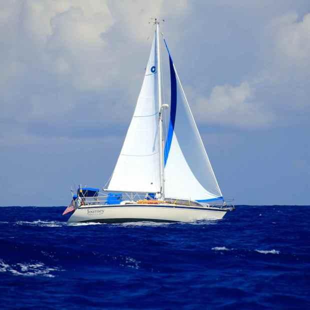 Journey underway to Conception Island, Bahamas.