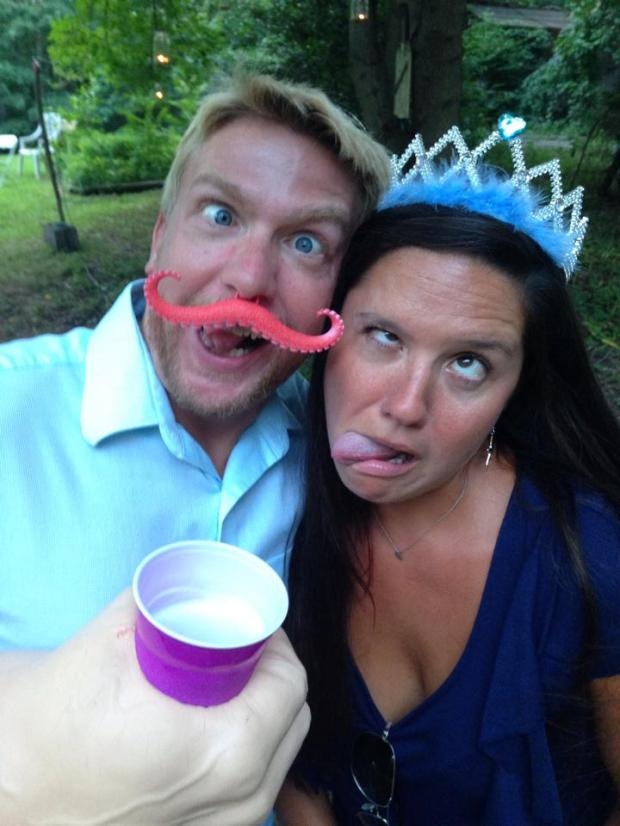 Photo booth props are always a good time at a wedding :)
