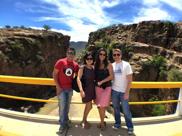 Tarija - Another tourist attraction in Tarija, La Angustura.  This is my cousin, Sebastian, my BFF, Flavia, me, and JR.