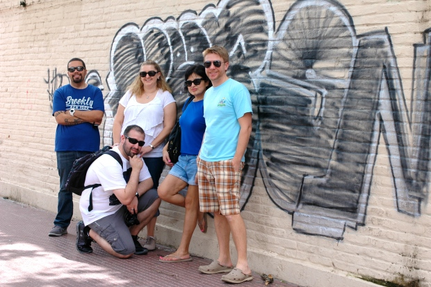 Santa Cruz - Our crew, walking the mean streets of Santa Cruz.