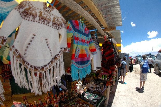 Uyuni - Colchani market.  The entrance into the salt flats.