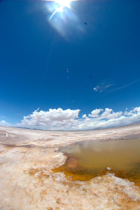 Uyuni - The bubbly, muddy water under the salt.