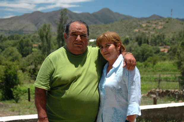 Daddy and Nancy in Coimata, Bolivia (a little town not too far away from Tarija).