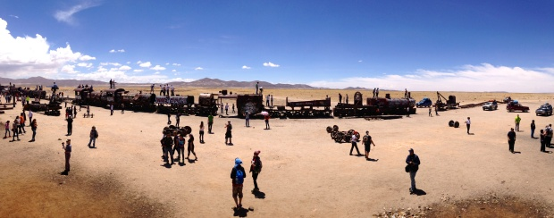 Uyuni - The train cemetery.  Really, just a tourist trap :)