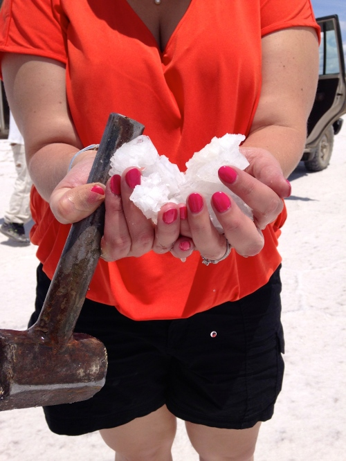 Ivan and Jen chiseled away for these salt crystals.  Beautiful and tasty :)